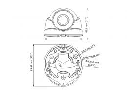 DS-2CE56D0T-IRMF - (3.6mm)(C) 2Mpx, 4v1 dome ball kamera; 3,6mm; IR 20m