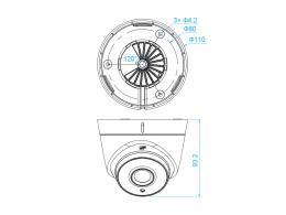 DS-2CE56D0T-IT1F - (2.8mm)(C) 2Mpx, 4v1 dome ball kamera; 2,8mm; EXIR 20m