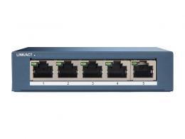 DS-3E0505-E switch 5 portů 1Gbps, kovový kryt