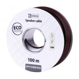Dvojlinka 2x0.75mm mědí plátovaný hliník (CCA), lanko, do 30 V=, balení 100m