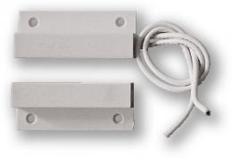 FM-102.3 povrchový, samolepící - 2vodič, bílý, kabel 3 metry