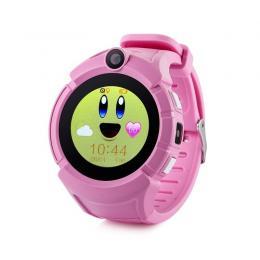 GPS hodinky GW600 Cam Pink dětské hodinky s GPS a kamerou