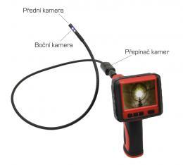 InCAM-990 Dual inspekční kamera 9mm Dual s bezdr. LCD a záznamem