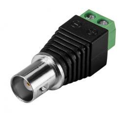 BNC-13F redukce BNC konektoru na svorkovnici pro 2 vodiče, samice