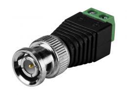 BNC-13M redukce BNC konektoru na svorkovnici pro 2 vodiče, samec