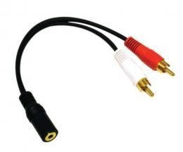 kabel 2 x RCA-female jack cable 2 x RCA female jack