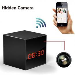 Kamera ve stolních hodinách WIFI Cube one skrytá kamery