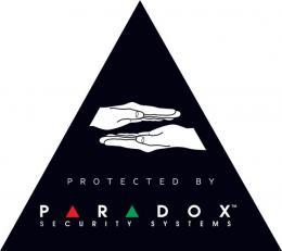 """Nálepka """"PARADOX"""" černá zvenku i zevnitř"""