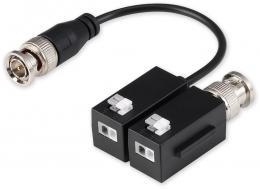 PFM800B-4K TP/BNC, HDCVI/AHD/TVI/Analog, balun, přímý, 2ks, 4K, ESD