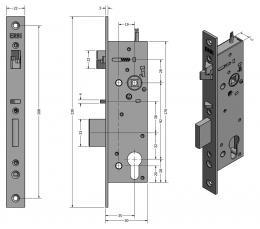 SAM EL 9235 elektromechanický samozamykací zámek