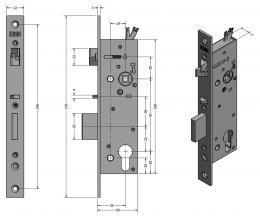SAM EL MI B P 9235 elektromechanický samozamykací zámek