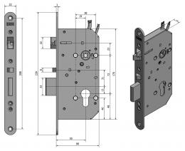 SAM EL MI P 7255 elektromechanický samozamykací zámek