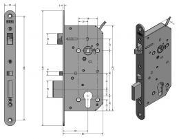 SAM REV P 9050 elektromechanický samozamykací zámek