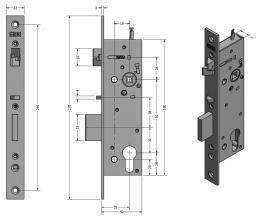 SAM REV P 9235 elektromechanický samozamykací zámek