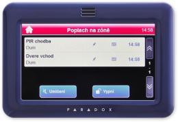 TM50 - modrá barevná grafická dotyková klávesnice