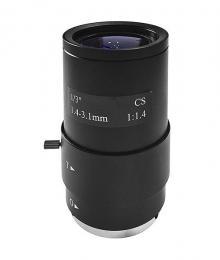 V13VM1431 CS objektiv, 1,4-3,1mm, man.clona, megapixel