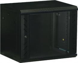 WS.6412.901 nástěnný, rozložený, 12U, 600 x 450, skl