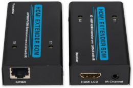 RX-505A HDMI Extender, 1080p, 60m, UTP cat.5e/6, aktiv.