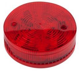 SF 100 RSST - červená plochá siréna a maják