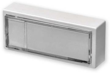 Zvonkové tlačítko klasické plastové se jmenovkou, boční ovládání